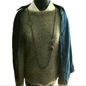 CO & EDDY Green Textured Sweater EUC